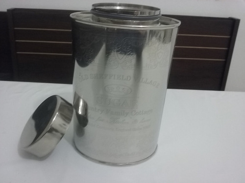 pote oval sugar em inox 301 016