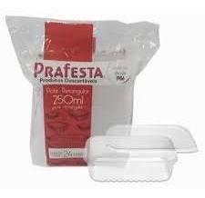 pote retangular micro e freezer 250ml prafesta c/24u