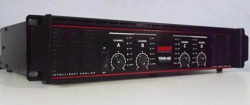 potencia 4 canais tpx-4x quad system  toca 8 caixas 250watts