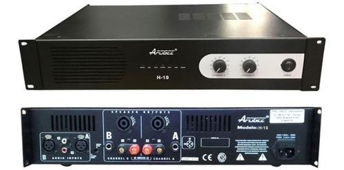 potencia amplificador apogee h18  600w x 2 en 4ohms 1200w