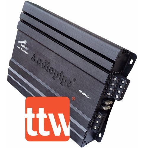 potencia amplificador audiopipe mosfet 4 canales 1400 w p-i