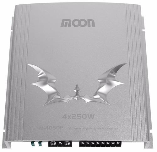 potencia amplificador auto moon m4050p 720w pmpo 4 canales