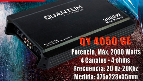 potencia amplificador quantum 800 watts 4 canales