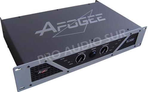 potencia apogee dj400 amplificador 400w power profesional