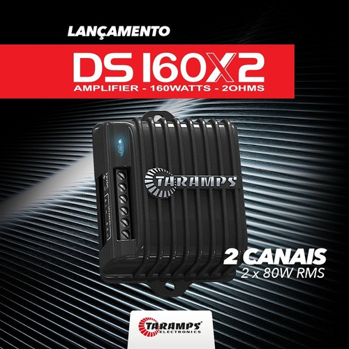 potencia automotiva taramps ds160 x 2 mini compact digital