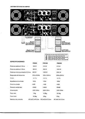 potencia cuotas amplificador moon pm2000 2000w puenteable