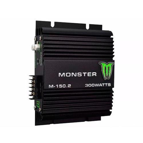 potencia monster 300w auto 2 canales amplificador m-150.2
