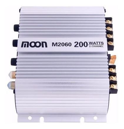 potencia moon m2060 amplificador de sonido para auto 50w rms