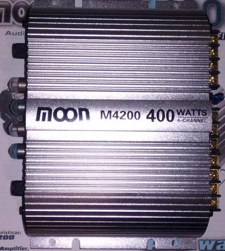 potencia moon para 4 parlantes 400w 12v 20x2 rms