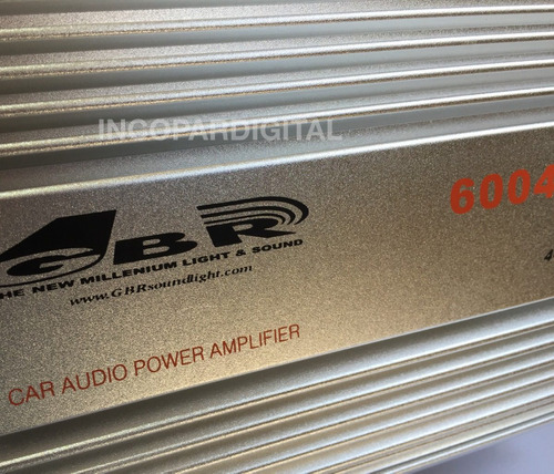 potencia para auto gbr 6004 usb 4 canales 240w