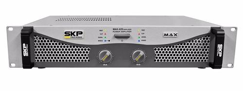 potencia skp max 420 amplificador 400w bridge profesional
