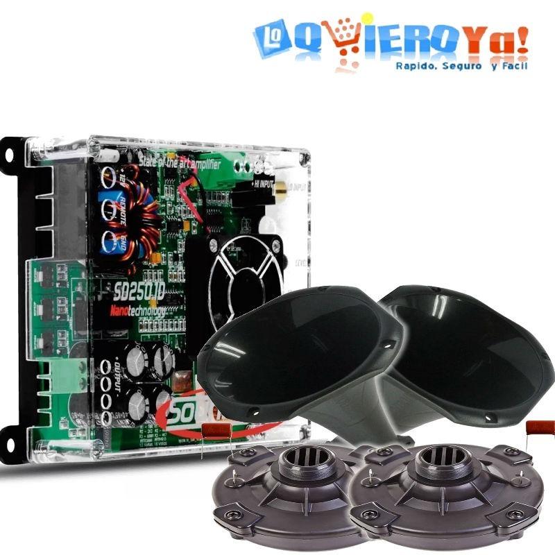 Potencia Soundigital Nano Sd250 1 + 2 Driver Drv200 Completo