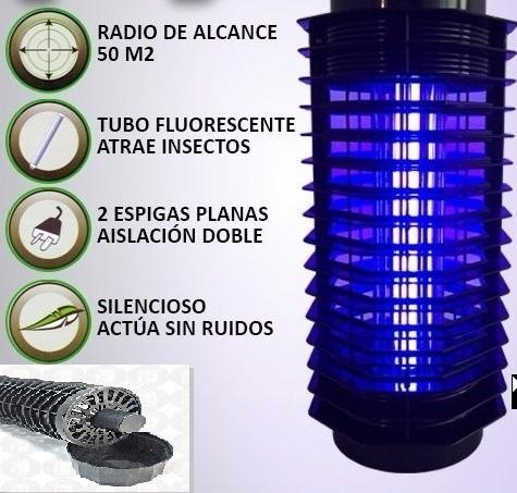 potenciado lampara mata insectos mosquito bajo consumo 6w