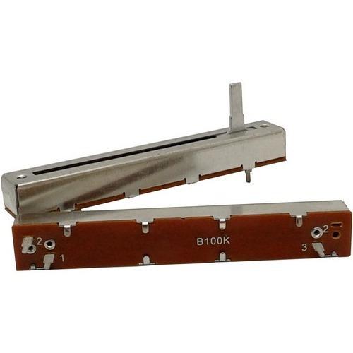 potenciômetro deslizante mono 100kb b100k b104 percurso 60mm