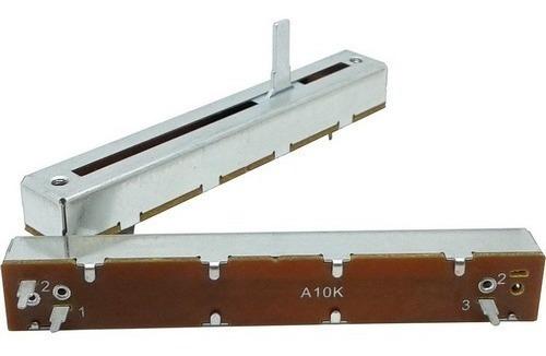 potenciômetro deslizante mono 10ka a10k a103 comprimento 88mm x percurso 60mm