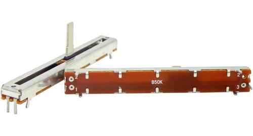 potenciômetro deslizante mono 50kb b50k b503 percurso 60mm