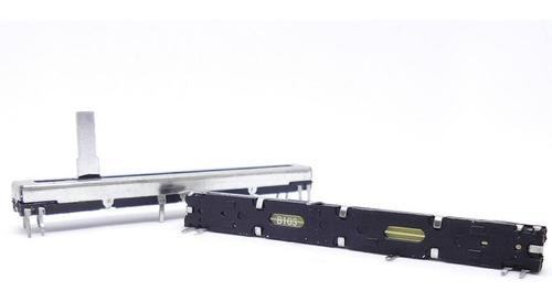 potenciômetro deslizante stereo 10kb b10k b103 percurso 60mm
