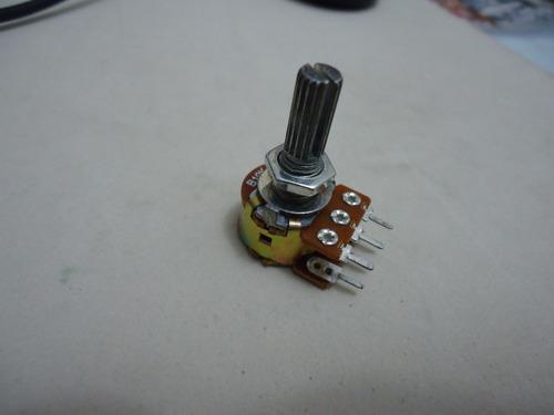 potenciometro 16 mm l20 1k duplo com 3 peças