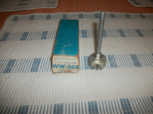 potenciometro de precision 5000 ohmios 5vatios de perilla