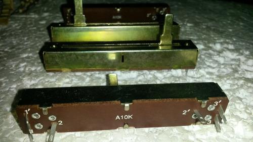 potenciometro deslizante  45mm 10ka x 2 st.
