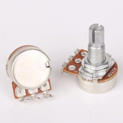 potenciómetro generico a/b250k single coil guitarra (1und)