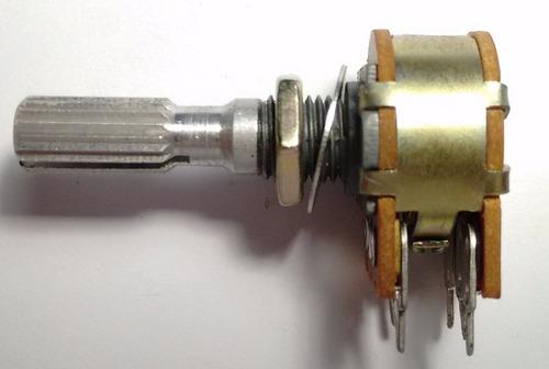 potenciometro stereo 16mm 3+3 ptas lineal tandem- vrsvalores