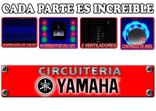 potente amplificador de c  yamaha 3000w de poder increíble