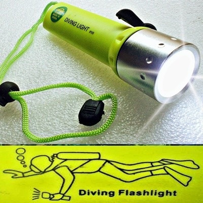 potente brillante linterna submarina buceo led cree acuatica