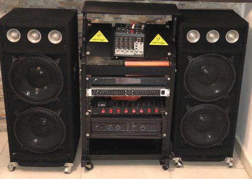 potente equipo sonido profesional