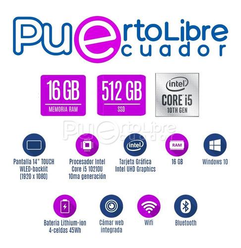 potente lenovo 360 core i5 10ma + 16 gb + 512 ssd + touch !!