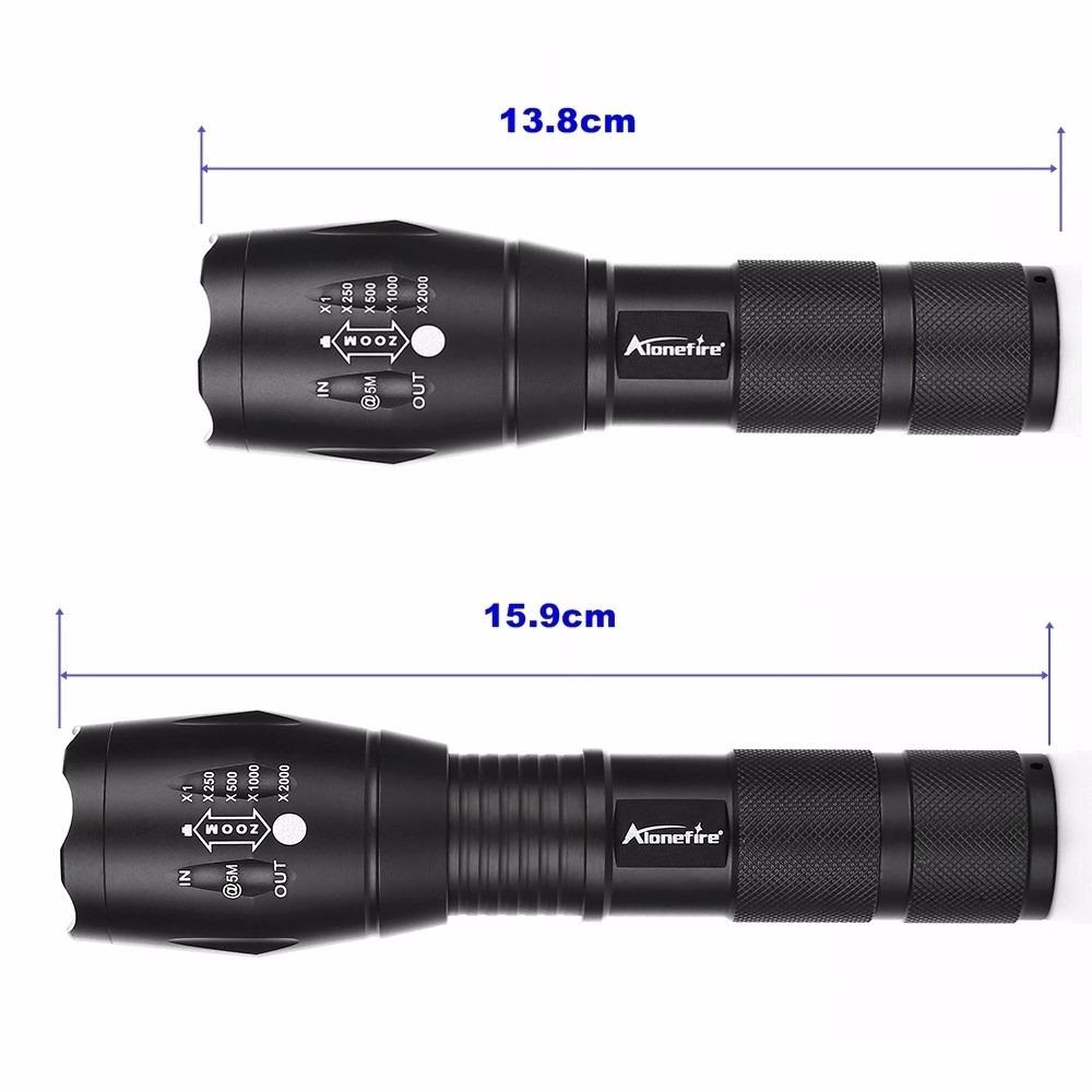Potente linterna led alonefire xml t6 2000 lumens for Linterna de led potente