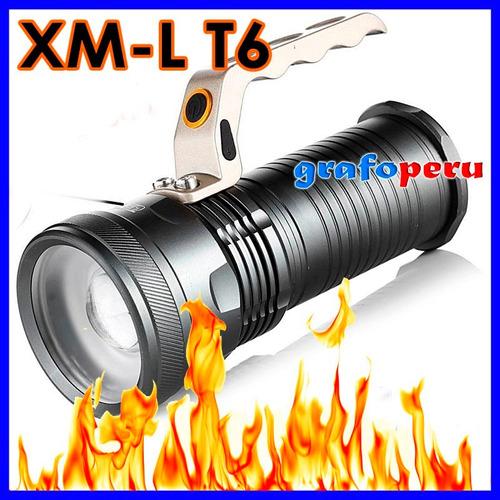 potente linterna tactica zoom recargable led xml triton t6