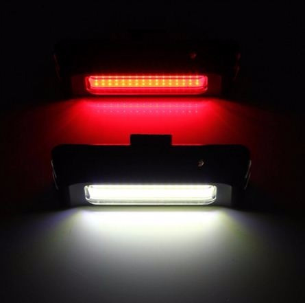 potente luz de bicicleta de 100 lumens recargable usb