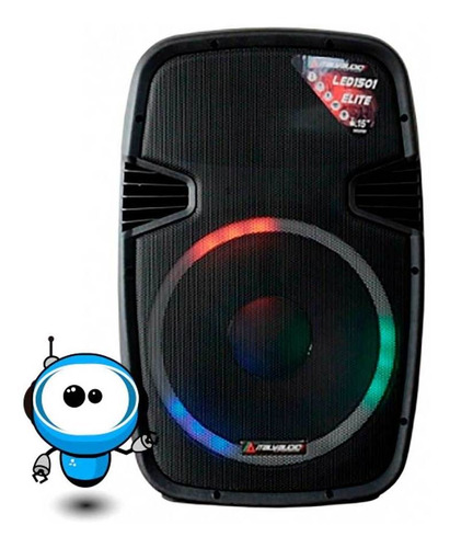 potente parlante amplificado 15 bluetooth usb radio 50000 w