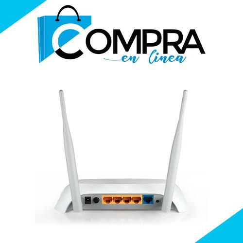potente router repetidor wifi tp-link 2 antenas usb 4g 5 dbi