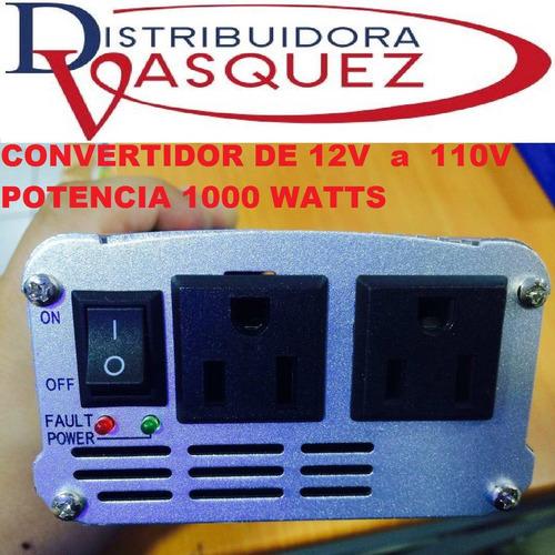 potente transformador convertidor de 12v a 110v 1000 watts