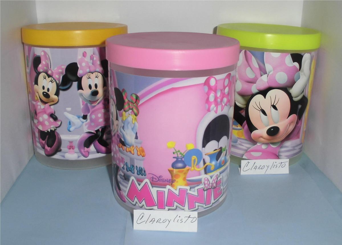 Potes Con Tapa Mickey - Minnie Bebes, Para Cotillones. - Bs. 990 ...