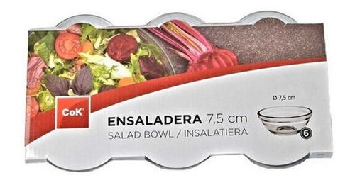 potes de vidrio- ensaladera salsa 7.5 cm 6 dips de vidrio
