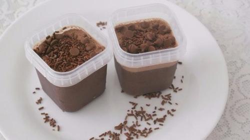 potes quadrados bolo no pote plástico 220ml - 100 potinhos