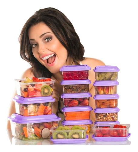 potes vasilhas de plástico p/ freezer micro-ondas 15 peças