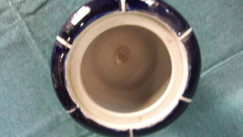 potich terracota esmaltada sellado azul cobalto p/rest #1259