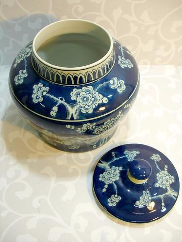 potiche porcelana decoração
