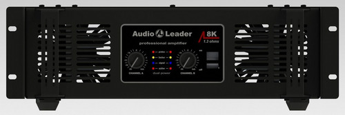 potência amplificador áudio leader al 8k 8000w rms 1,3 ohms
