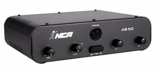 potência amplificador de mesa compacto nca - ab50 r4 - 50w