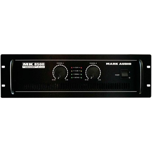 potência estéreo 2 canais 1500w mk 8500 - mark audio