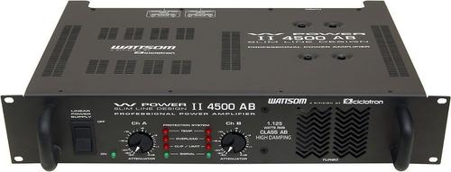 potência wattsom wpower ii 4500 ab 4ohms