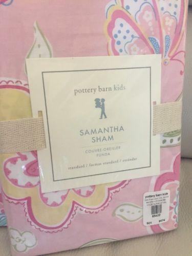 Pottery Barn Kids Samantha Duvet Shams Full Queen Pink Flor
