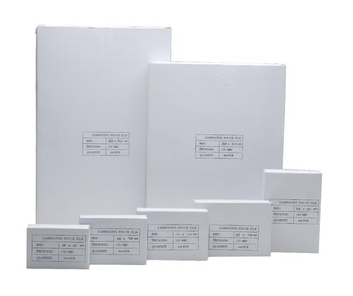 pouch para plastificado tamaño a-4  mic. pte. x 50 unidades.