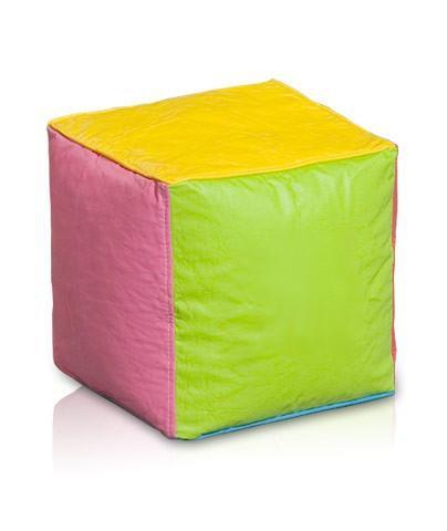 pouf cubo colores pera en policuero san valentin
