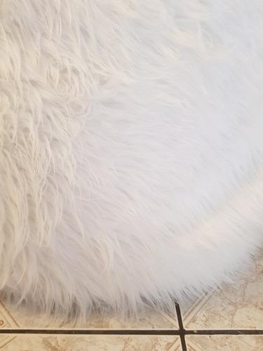 pouf pera tipo piel pelo largo